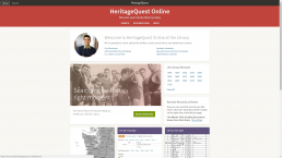 heritage quest screenshot